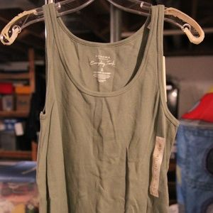 NWT Medium Ribbed Khaki Tank Top